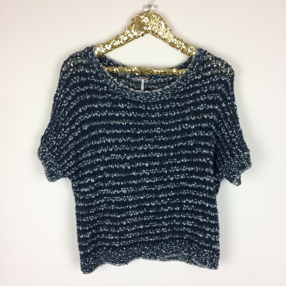Free People Sweaters - Free People Crochet Short Sleeve Sweater Size Sm